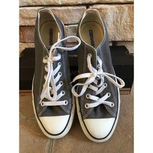 Unisex Charcoal Converse Shoes 8 Mens/10 Womens